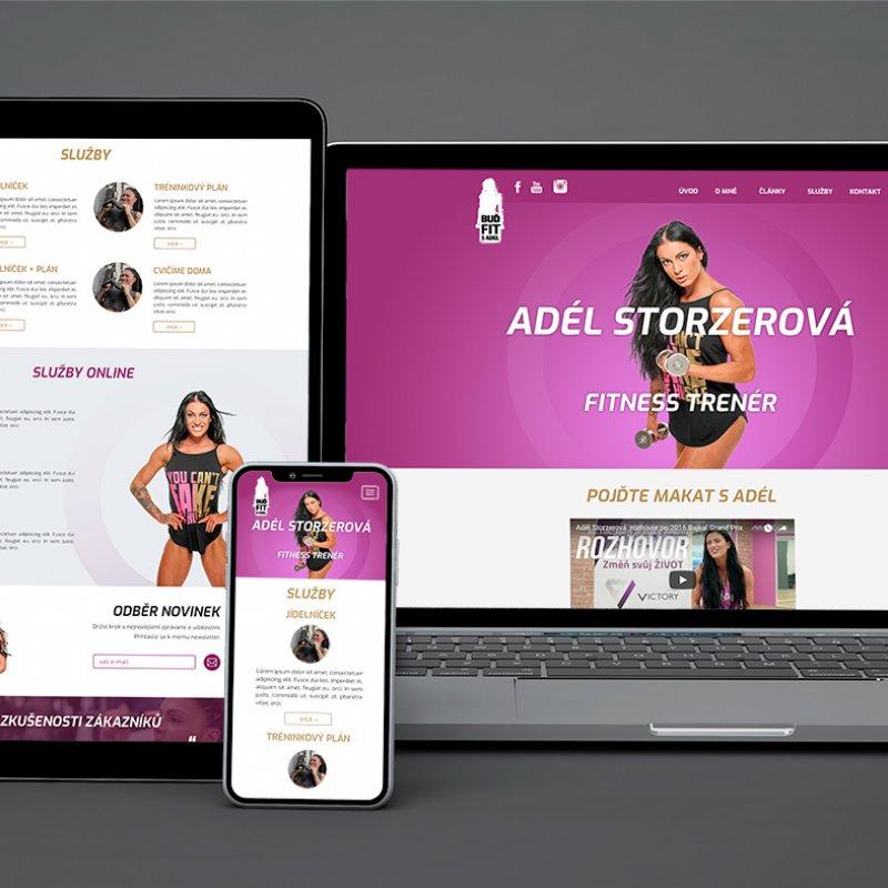 Grafický návrh webových stránek Adél Storzerová