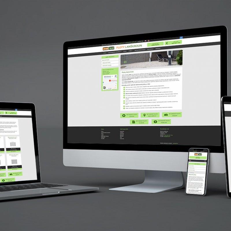 Grafický návrh webových stránek Ploty Beves
