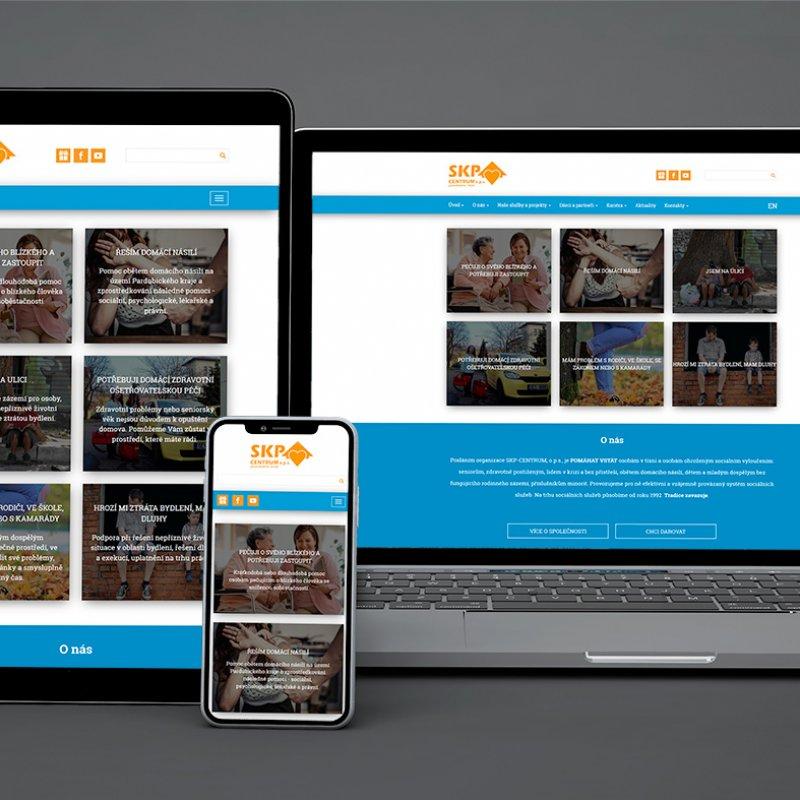 Grafický návrh webových stránek SKP Centrum